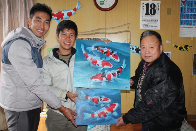 Beautiful Life-like Nishikigoi Paintings From Papa Hirasawa; A Very Humble & Down-to-earth Man @ Marusei Koi Farm