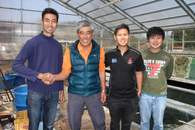 Nobuaki Hiroi san @ Platinum Choguro Koi Farm